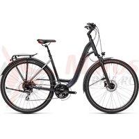 Bicicleta Cube Touring One Easy Entry Iridium/Red  28' 2021