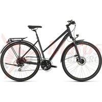Bicicleta Cube Touring One Trapeze Iridium/Red 2020