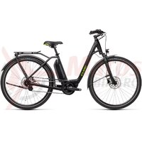 Bicicleta Cube Town Hybrid One 400 Easy Entry Black/Green 2021