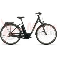 Bicicleta Cube Town Hybrid One 400 Easy Entry Iridium/Black 2020