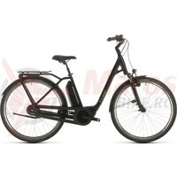 Bicicleta Cube Town Hybrid Pro 400 Easy Entry Black/Green 2020