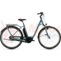 Bicicleta Cube Town Hybrid Pro Rt 400 Easy Entry Blue/Orange 2020