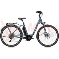 Bicicleta Cube Town Sport Hybrid Pro 500 Easy Entry Blue/Red 2021