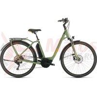 Bicicleta Cube Town Sport Hybrid Pro 500 Easy Entry green/orange 2020