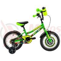 Bicicleta DHS 1401 Kids verde 2019