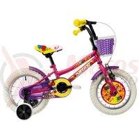 Bicicleta DHS 1402 Kids roz 2019