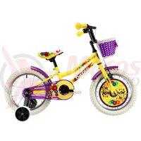 Bicicleta DHS 1602 Kids galbena 2019
