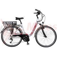 Bicicleta electrica Devron Epac 28006A argintiu