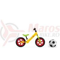 Bicicleta fara pedale metal Winnie the Pooh galben/verde