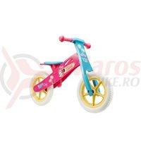 Bicicleta fara pedale Minnie roz/albastru
