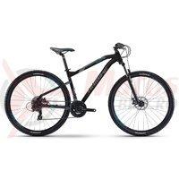 Bicicleta Haibike Seet HardNine 1.0 21s TY300 black/anthracite/cyan 2017