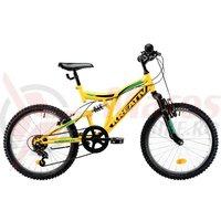 Bicicleta Kreativ 2041 galbena 2019