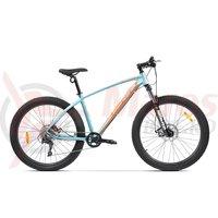 Bicicleta Pegas Drumuri Grele 27.5 bleu/portocaliu