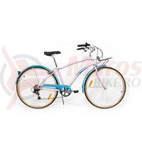 Bicicleta Pegas Popular Alu 7S roz bujor