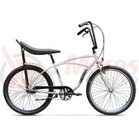 Bicicleta Pegas Strada 1 aluminiu 3S alb perlat
