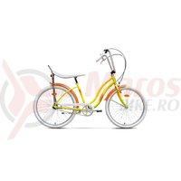 Bicicleta Pegas Strada 2 3S galben floare