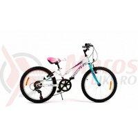 Bicicleta Sprint Calypso 20 6V alb lucios 2020