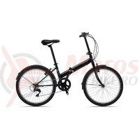 Bicicleta Sprint Traffic 24 pliabila negru mat 2019