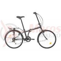 Bicicleta Sprint Urban 24 Pliabila negru/alb mat 2019
