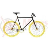 Bicicleta SXT SSP/Fixie negru/galben