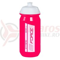 Bidon Force Stripe 0.5l roz/alb