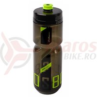 Bidon Polisport S600ml negru transparent/verde lime