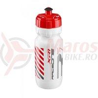Bidonas Raceone XR1 600ml alb logo gri/rosu