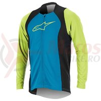 Bluza Alpinestars Drop 2 Full Zip Long Sleeve Jersey bright blue/green