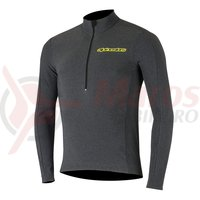 Bluza de corp cu maneca lunga Alpinestars Booter Warm black/acid yellow