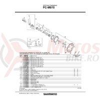Brat pedalier Shimano FC-M970 stanga 175 mm