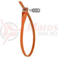 Cablu securitate HIPLOK Z-LOK, 420 mm, Orange, Cheie