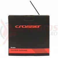 Camasa cablu frana Crosser 2p - rola 30m - negru