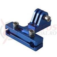 Camera mount PRO for saddle rail blue