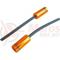 Cap bowden schimbator cu capat iesire plastic(32mm) Jagwire al portocaliu diametru 4,5mm