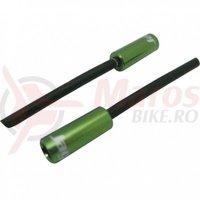 Cap bowden schimbator cu capat iesire plastic(32mm) Jagwire al, verde diametru 4mm
