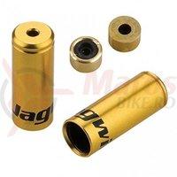 Cap bowden schimbator cu garnitura Jagwire (BOT112OJ) alu auriu diametru 4,5mm