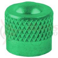 Cap valva M-Wave aluminiu verde anodizat AV