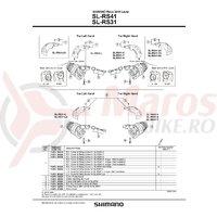 Capac dreapta & suruburi de fixare pentru SL-RS41-6A/7A/8A Shimano