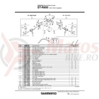 Capac fata Shimano ST-R600 dreapta
