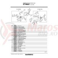 Capac inferior Shimano ST-M965 stanga & suruburi de fixare