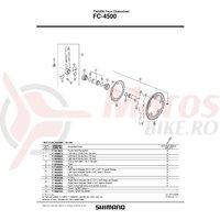 Capac interior & O-Ring Shimano FC-4500