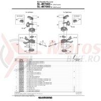 Capac maneta de schimbator Shimano SL-M7000-11R dreapta cu indicator