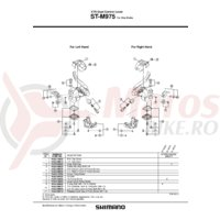 Capac maneta release Shimano ST-M975 & suruburi M4x6mm