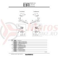 Capac maneta Shimano SL-M751-L stanga