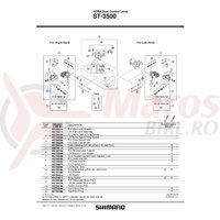 Capac maneta Shimano ST-3500 dreapta & suruburi de fixare