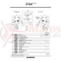 Capac maneta Shimano ST-4600 stanga & suruburi de fixare