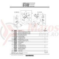 Capac maneta Shimano ST-5700 dreata & suruburi de fixare