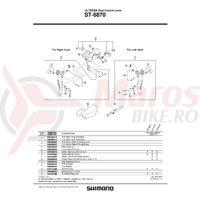 Capac maneta Shimano ST-6870 dreapta & suruburi de fixare
