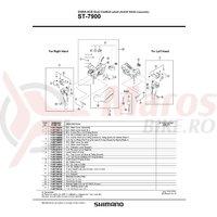 Capac maneta Shimano ST-7900 stanga & suruburi de fixare