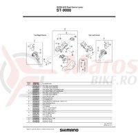 Capac maneta Shimano ST-9000 stanga A & suruburi de fixare